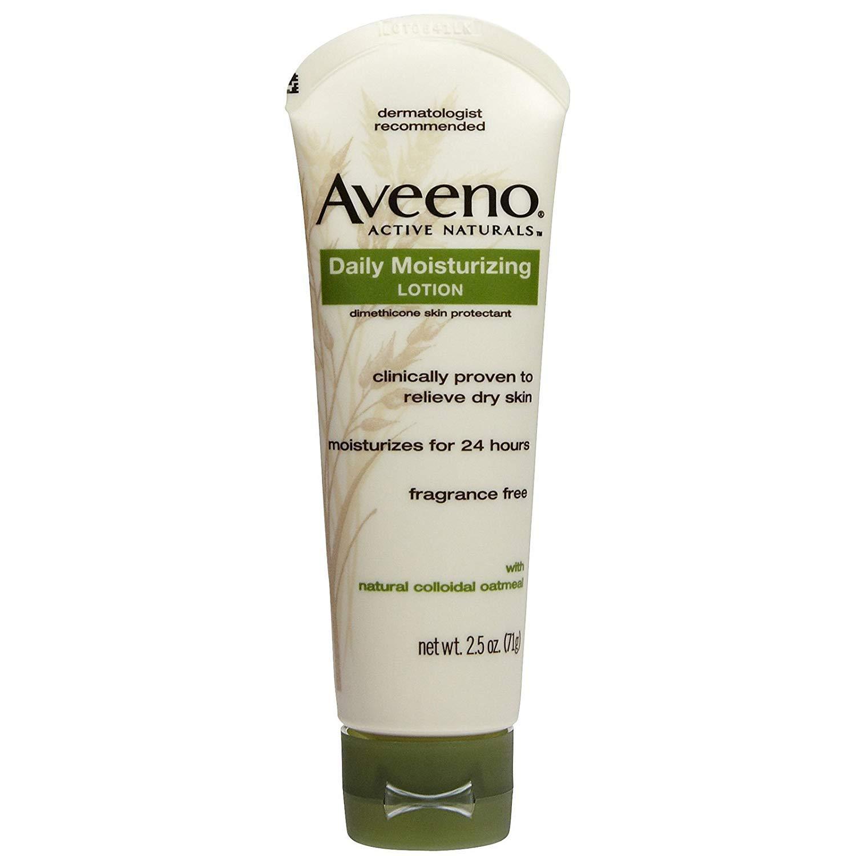 Aveeno Active Naturals Daily Moisturizing Lotion - Net Wt. 2.5 OZ (71 g) - Pack of 4 Tubes by Johnson & Johnson, Inc. J&J CONSUMER INC