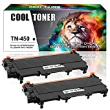 Cool Toner 2Pack High Yield Compatible TN450 TN-450 TN420 Toner Cartridge Replacement for Brother HL-2270DW HL-2280DW DCP-7065DN MFC-7860DW MFC-7360N MFC-7460DN HL 2280DW HL 2240 Toner Printer