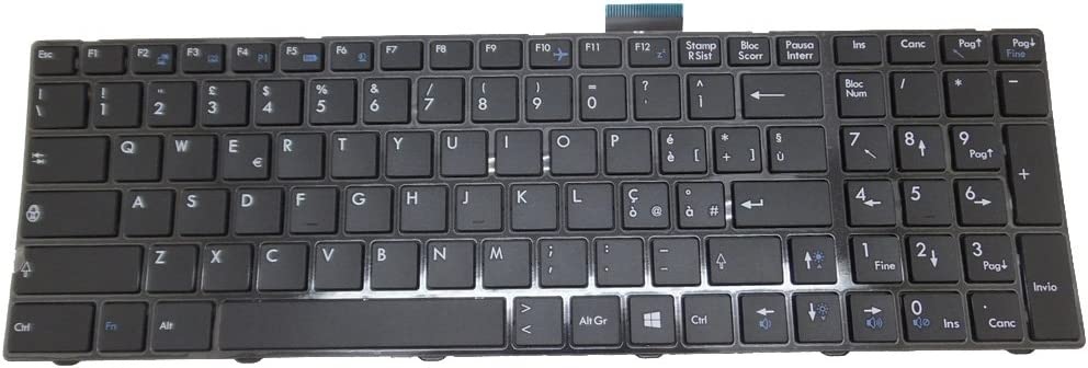 Laptop Keyboard for MSI GE60 V139922CK1 IT S1N-3EIT2P1-SA0 Italy IT Black Frame