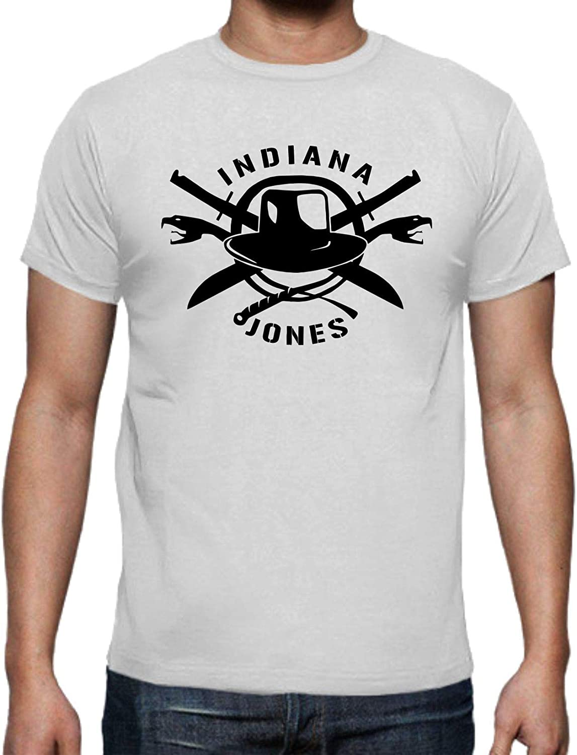 The Fan Tee Camiseta de Hombre Indiana Jones Doctor Arca Perdida Templo Maldito 003: Amazon.es: Ropa y accesorios