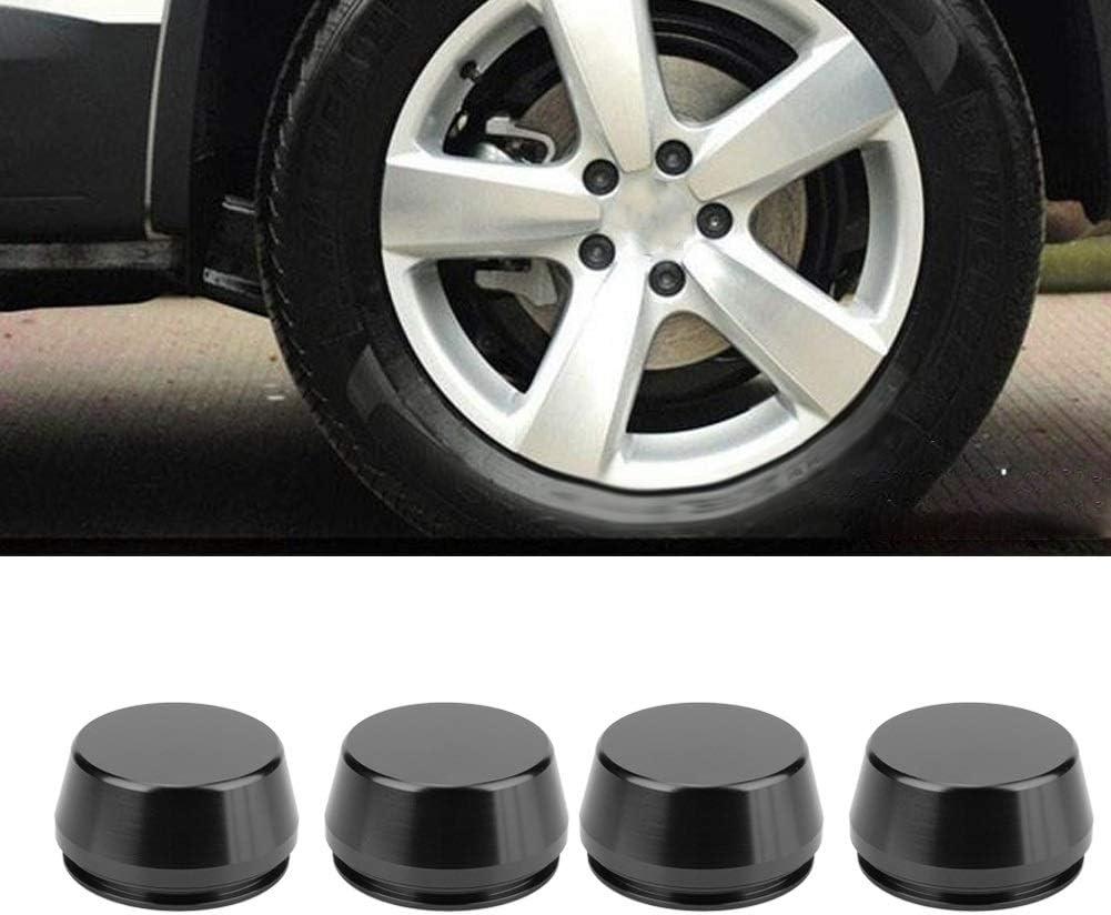 Coprimozzo ruota 2,2 pollici coprimozzo universale coprimozzo copri mozzo parte modificata in lega di alluminio 4 pezzi 56mm nero