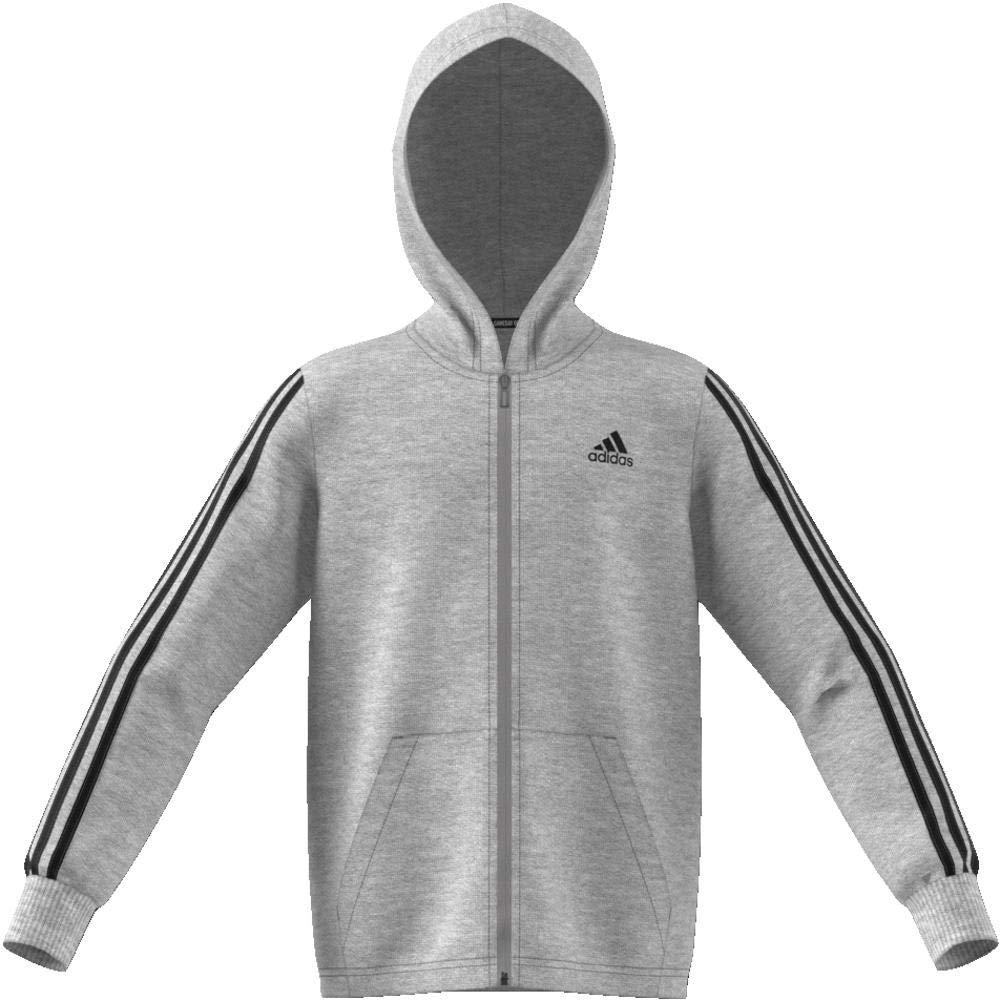 adidas Childrens Must Haves 3-stripes Full Zip Hooded Tracksuit Jacket