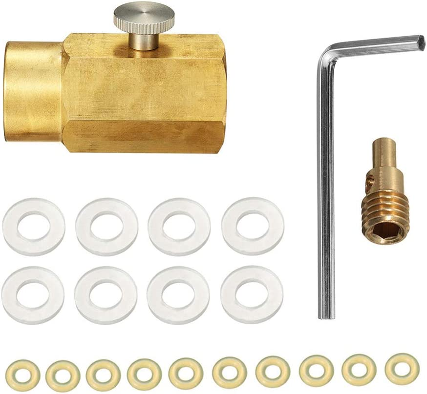 Soda Maker direct Connector for sodastream Gauge and bleed valve Upgrade CGA320 to TR21-4 Soda maker Co2 Tank Cylinder Direct Adapter with 60 inches High-Pressure Hose Soda Club