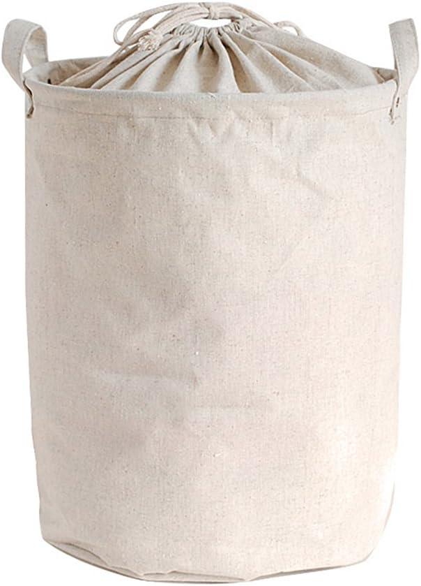 Riverbyland Closing Top Folding Laundry Hamper Cotton Linen 17x13