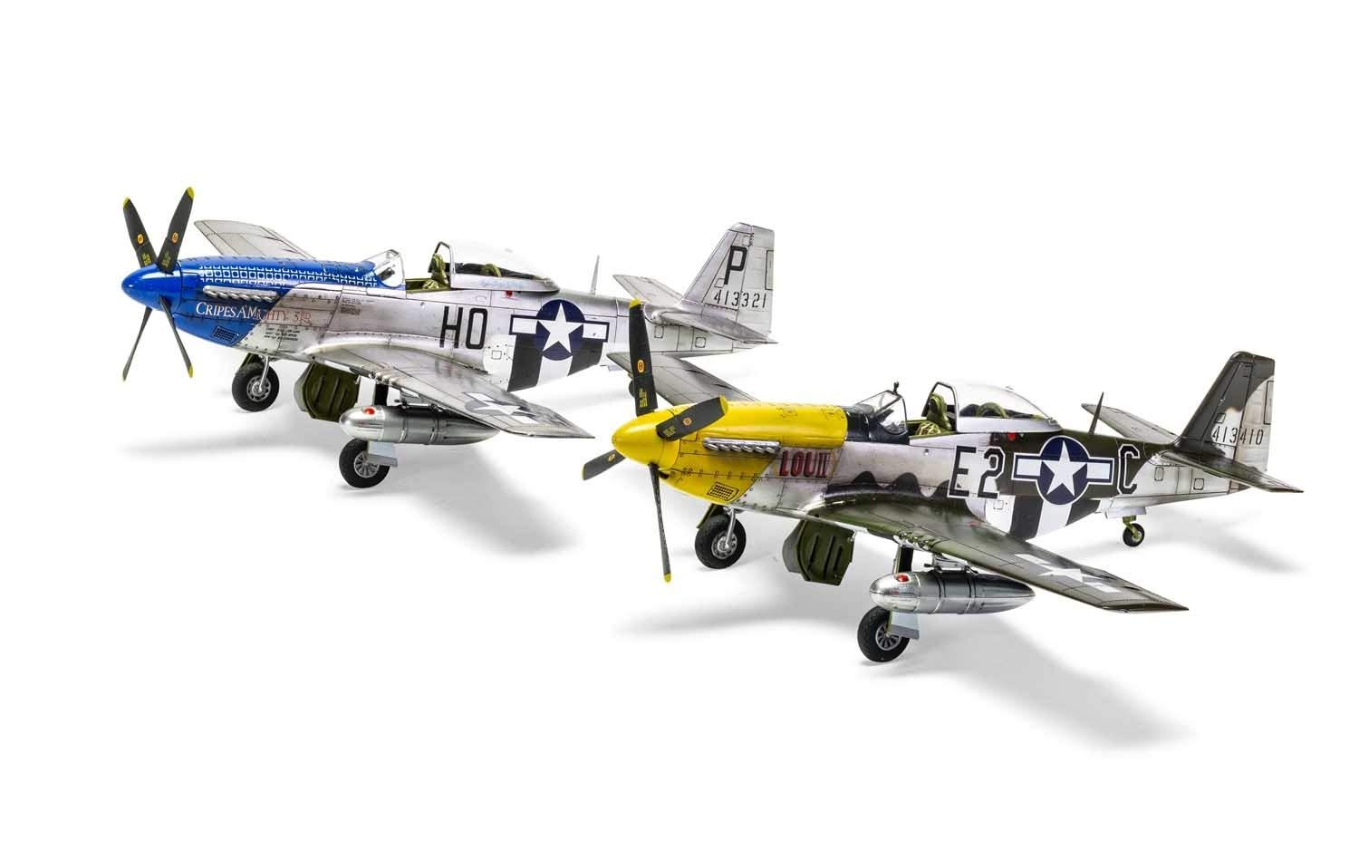 Airfix North American P51-D Mustang Filletless Tails 1:48 WWII Military Aviation Plastic Model Kit A05138