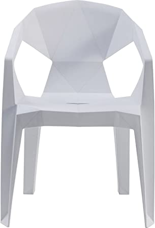 Kare Design Chaise Origami Géometrial Blanche:
