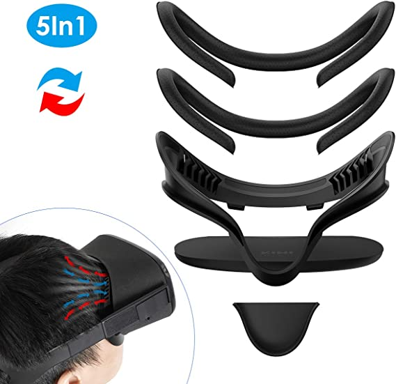 VR Face PU Leather Facial Interface Foam Cover Pad Replacement for Oculus Rift