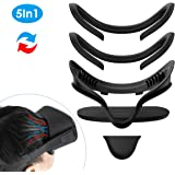KIWI design VR Facial Interface Bracket & PU Leather Foam Face Cover Mask Pad, Sweatproof Waterproof Anti-Dirty Comfort Set for Oculus Quest (Black)