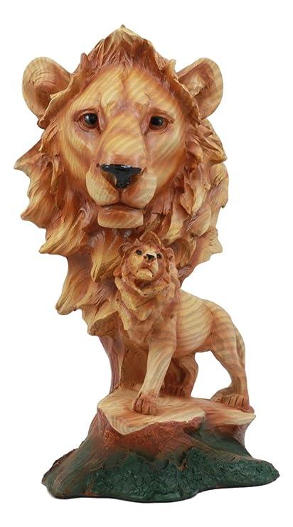 afa4ceacb4 Ebros African Savanna Safari Lion Bust Statue 9.25 quot  Tall Lion King  Pride Rock in Faux
