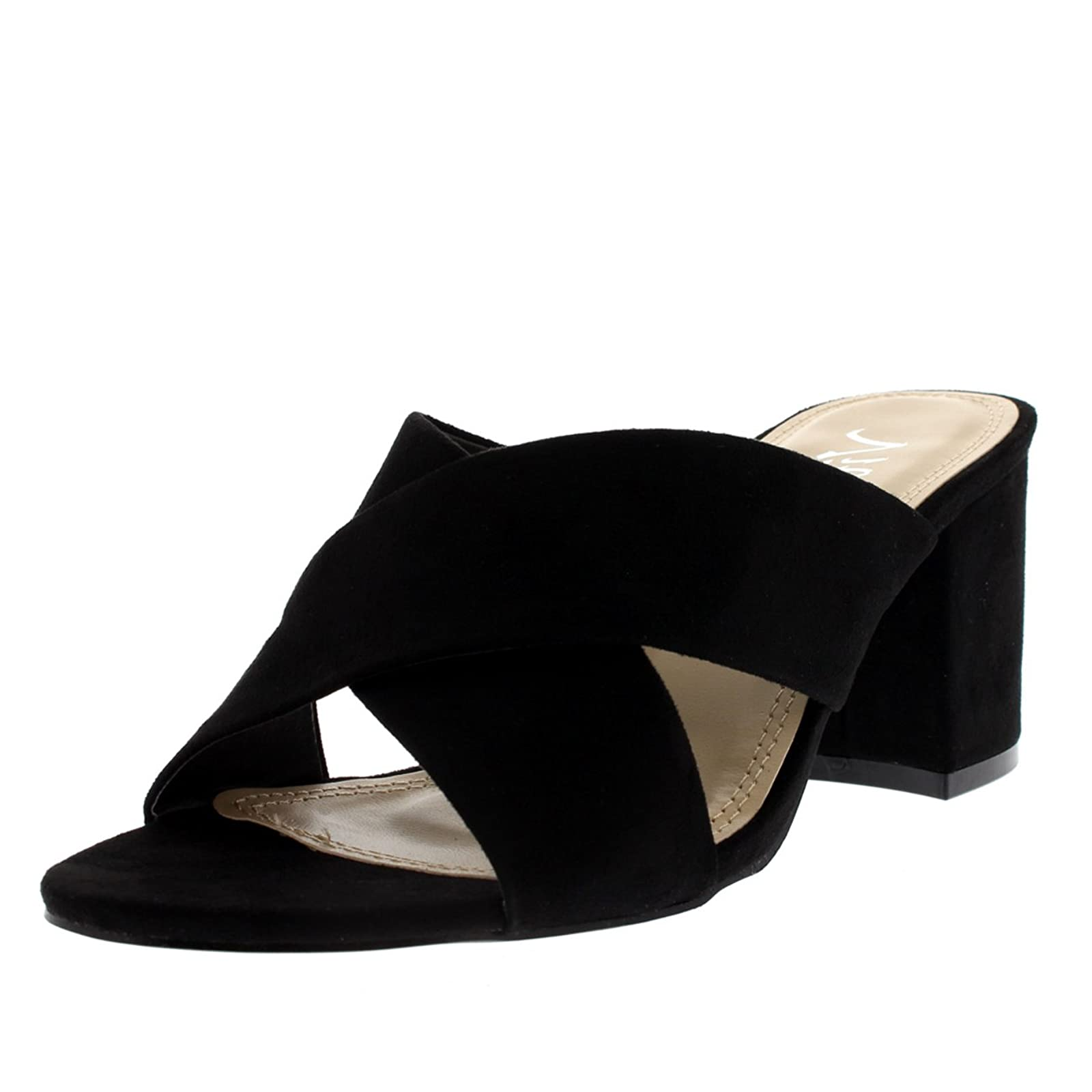 Viva Womens Open Toe Cut Out Mules - 1