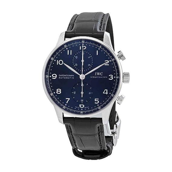 IWC portugieser automático cronógrafo azul Dial Mens Reloj iw371491: Amazon.es: Relojes
