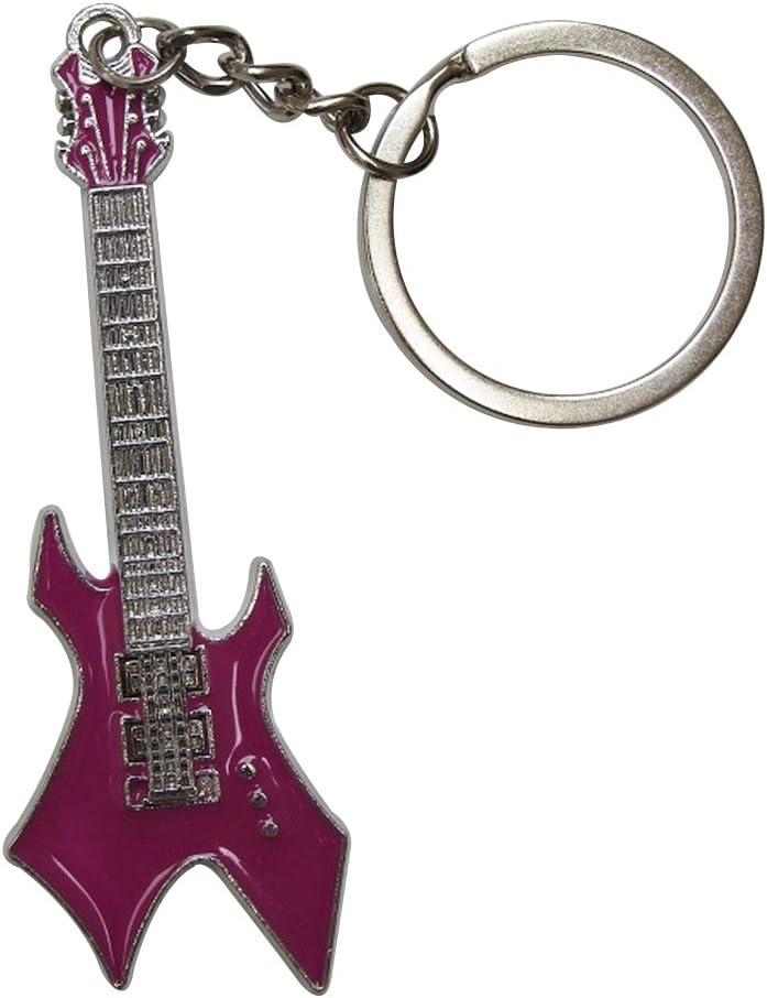 Blanc Porte-cl/és en Acier argent/é Style Guitare /électrique Hard Rock.