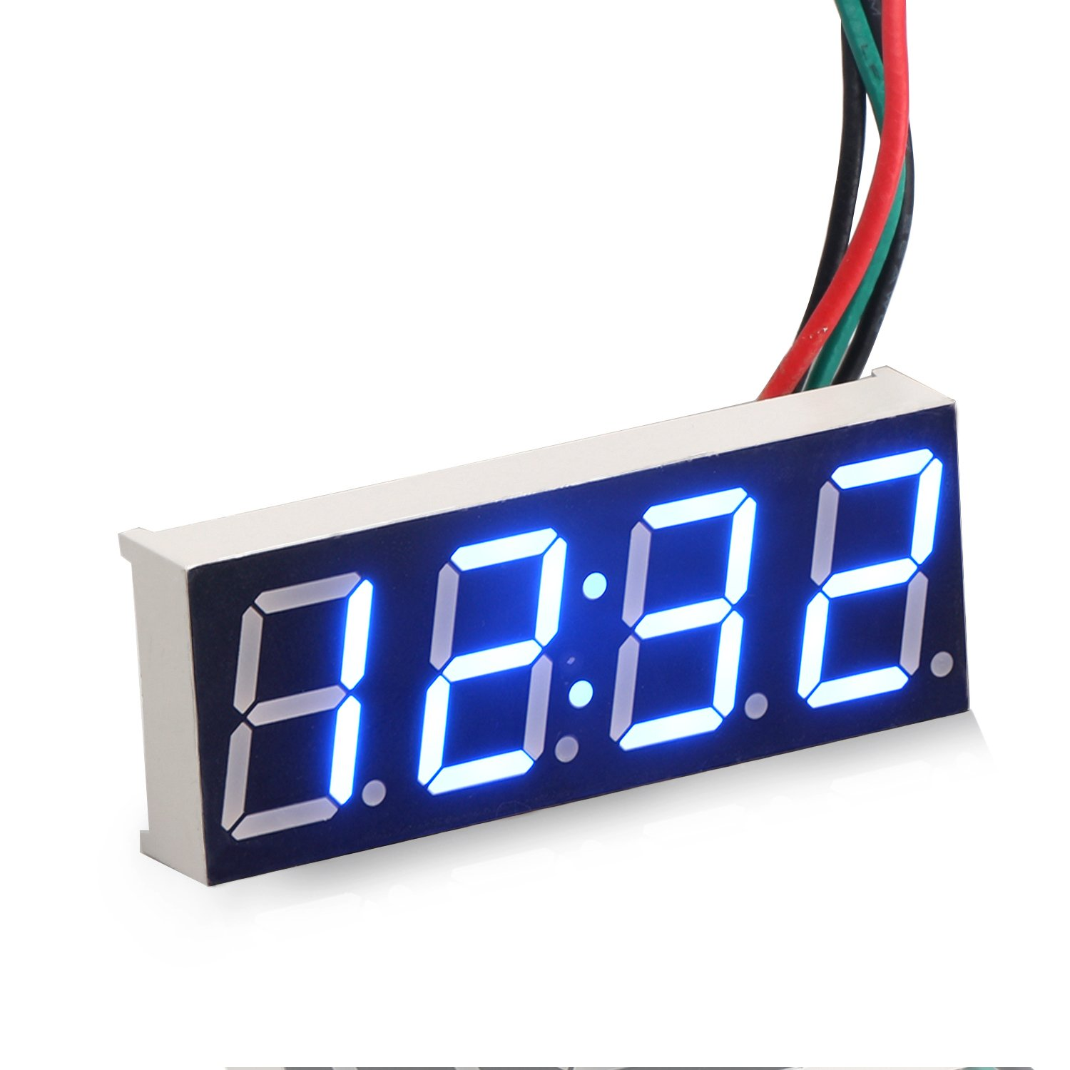 DROK® Car Clock Digital Timetable 0.56' Blue LED Display Panel Electronic Clock Stopwatch Second Chronograph with Night Light Auto Time Display Car Vehicles 12/24V Battery Operated DEOK 090787_EU