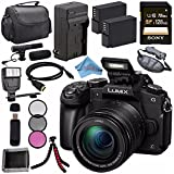 Panasonic Lumix DMC-G85 DMC-G85KBODY Mirrorless Micro Four Thirds Digital Camera Bundle (128GB, w/12-60 Lens)