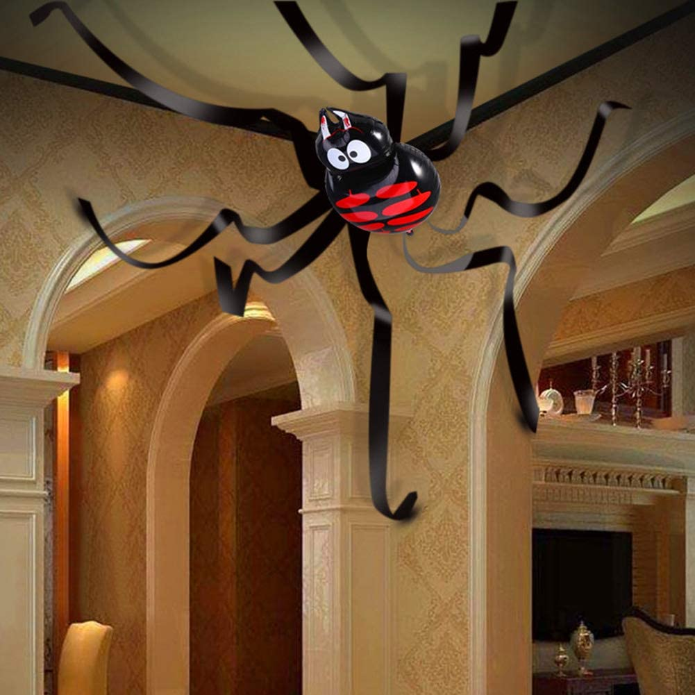 Halloween Decorations Hanging Spider with Balloon for Halloween Party or Haunted House Decorations 20 Feet