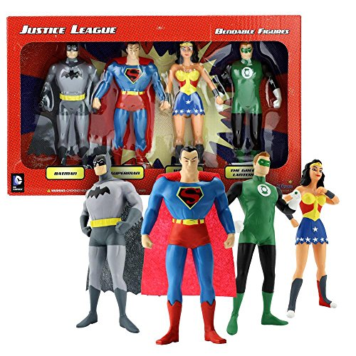 Superman Products : Justice League Bendable Boxed Set - NJ Croce