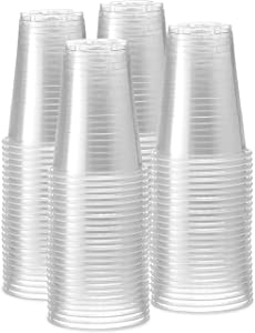 [240 Pack - 16 oz.] Clear Disposable Plastic Cups - Cold Party Polypropylene Drinking Cups