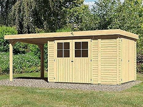 Karibu – Jardín Casa Limburg 5 + Cultivo techo + armario Cultivo Cobertizo 539 x 246 cm 19 mm: Amazon.es: Jardín