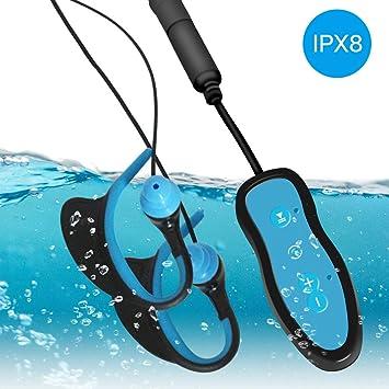 Reproductor de música subacuático IPX8 para natación y Auriculares ...
