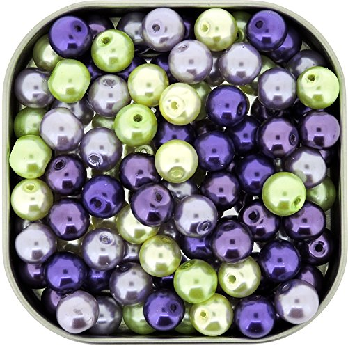Beads Direct USA's Glass Pearls Mix 100pcs 8mm - Lavender Garden - Usa Glasses Direct