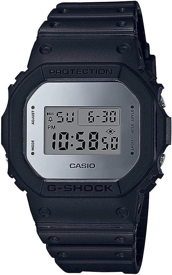 Montre pour homme Casio G Shock avec alarme de résistance aux chocs numérique DW 5600BBN 1
