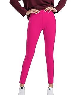 b236547ca64227 Bamans Stretch Pull On Yoga Dress Pants Workout Running Slim Leg Skinny  Capri Leggings