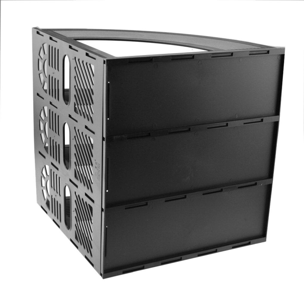 con cassetti e supporti in plastica Black Sayeec organizer da scrivania per tenere in ordine i documenti
