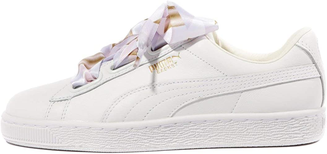 Comorama Millas escanear  PUMA Women's Basket Heart Geo Camo, Whisper White, 7.5 US: Amazon.co.uk:  Shoes & Bags