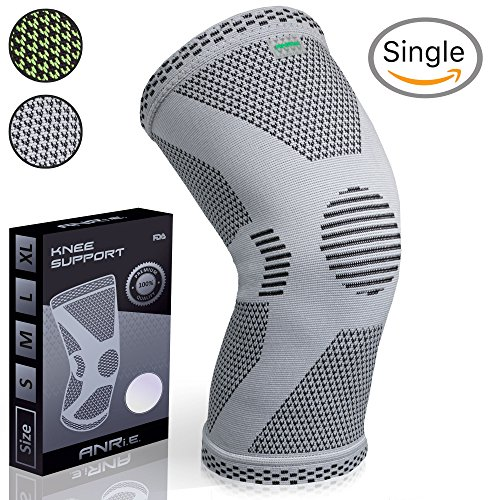 ANRi.e. Knee Compression Support Sleeve - FDA Approved Knee Brace for Men, Women - Ideal for Running, Weightlifting, Basketball, Knee Joint Recovery & Arthritis Pain Relief (Gray, L)
