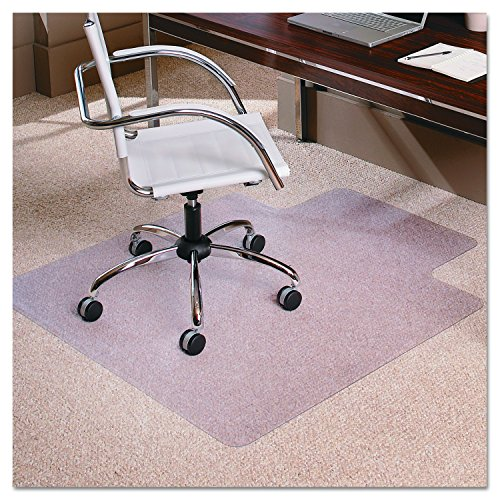 ES Robbins EverLife 36-Inch by 48-Inch Low Pile Series  Anchor Bar with Lip Vinyl Chair Mat, Clear