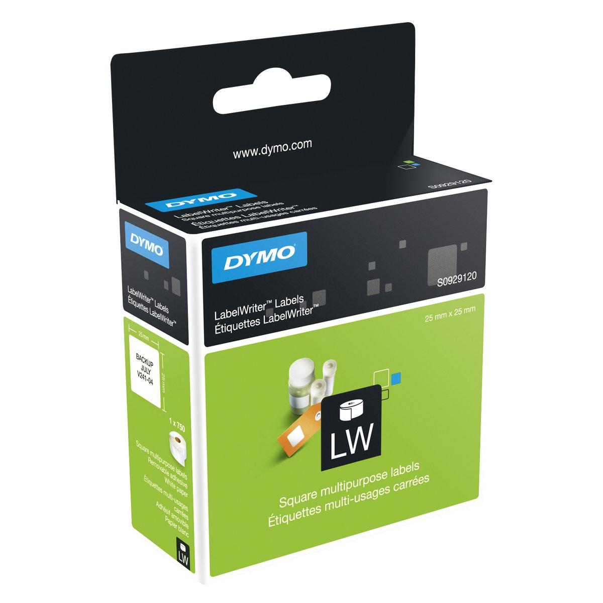 Dymo LabelWriter, etiquetas multiusos autoadhesivas, 13 x 25 mm, (rollo de 1000), impresión negra sobre fondo blanco, S0722530 55833NR