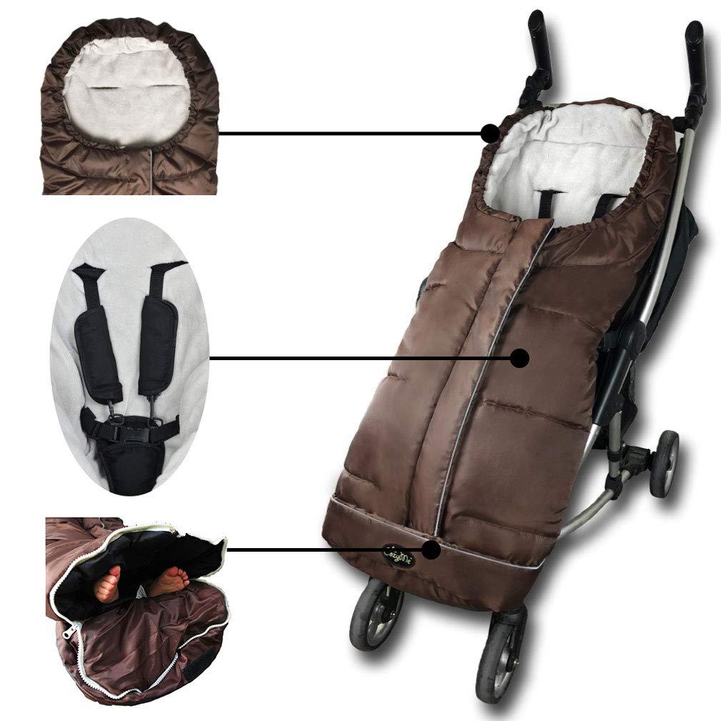 Washable Footmuff Foldable with Strollers,Red Wearable Stroller Blanket Soft Anti-Kicking Sleeping Nest Baby Sleeping Bag Unisex Comfort Sleeping Sack