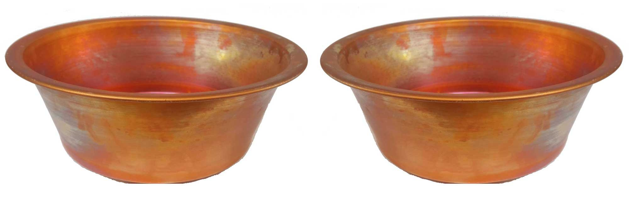Egypt gift shops Pair SMALL HANDMADE Vessel 11'' Copper Pan Panning Bowls Basins Toilet Bathroom Sinks Wholesale by Egypt gift shops