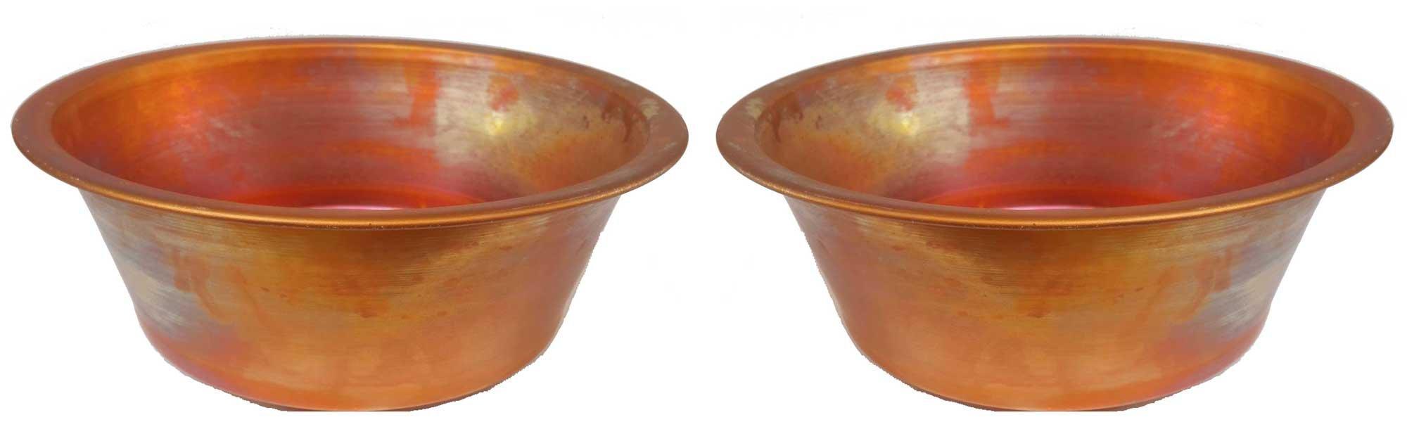 Egypt gift shops Pair SMALL HANDMADE Vessel 11'' Copper Pan Panning Bowls Basins Toilet Bathroom Sinks Wholesale