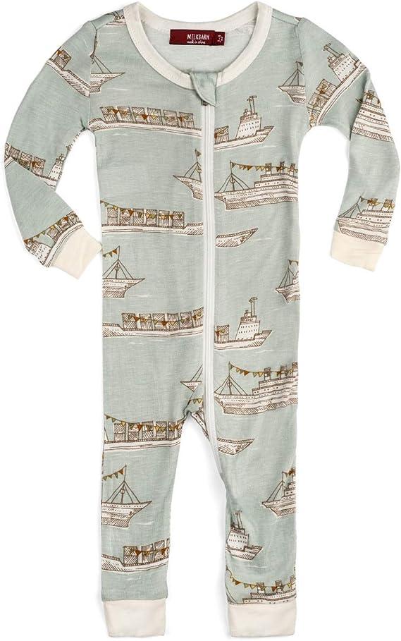 Christmas Birds MilkBarn Bamboo Christmas Zipper Pajama