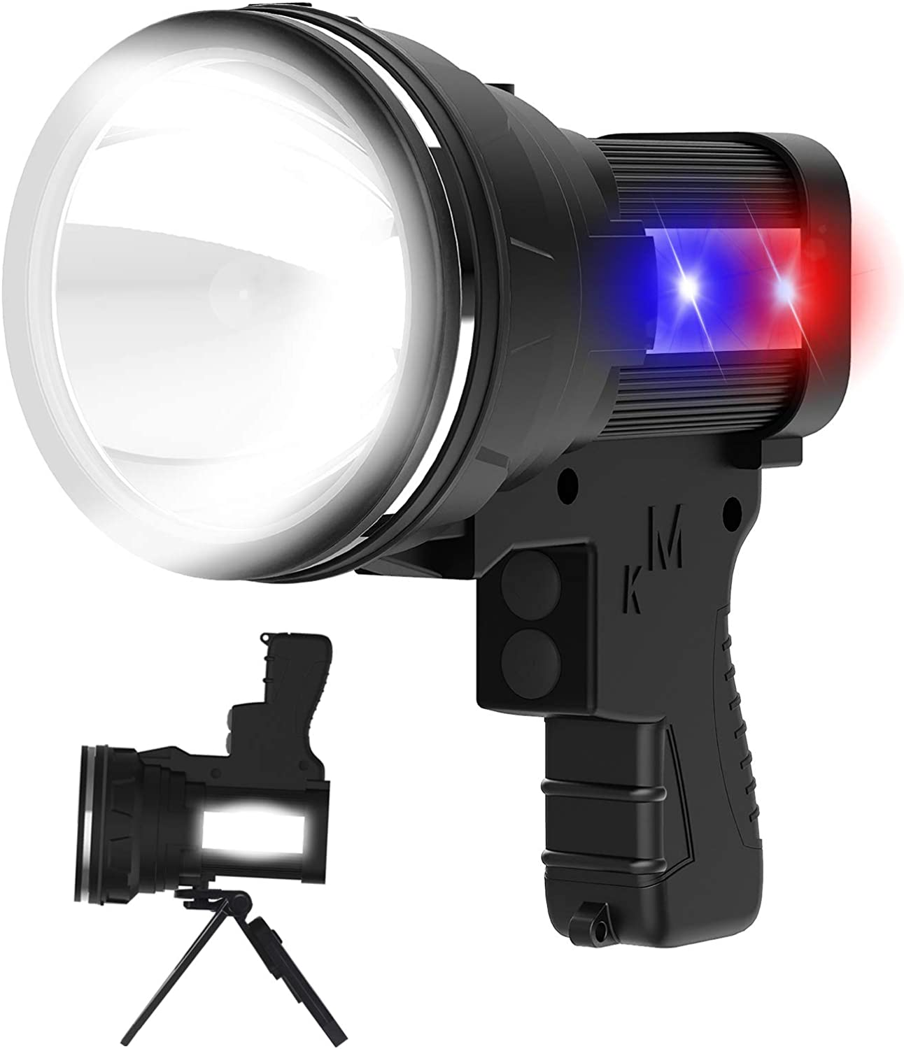 ANLOOK 55W 6000 Lumens Rechargeable Spotlight $32.99 Coupon