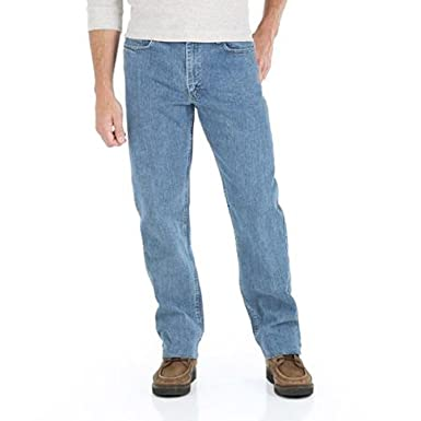 6b0fd0a2 Wrangler Men's Genuine Comfort Relaxed Fit Denim Jean at Amazon Men's  Clothing store: