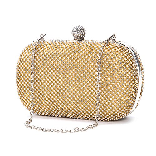Clutch Noble Crystal 1 Chichitop Gold Wedding Prom Formal Evening Purse Womens Handbag wIxWS5pqH
