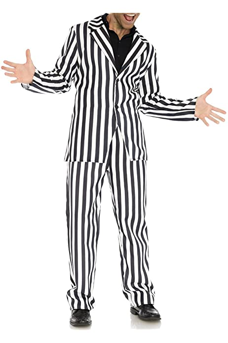 HALLOWEEN HORROR BEETLE JUICE CRAZY GUY WIG Adults Mens Fancy Dress Costume