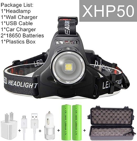 Led Headlamp Rechargeable  Zoom Headlight Head Torch Flashlight 18650 BE