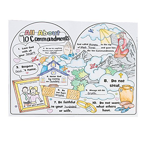 Fun Express - Cyo All About The 10 Commandments Poster - Craft Kits - CYO - Paper - Misc CYO - Paper - 30 Pieces -