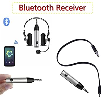 Wireless Bluetooth4.1 Mini Bullet 3.5mm Car Aux Music Receiver Audio Adapter Mic
