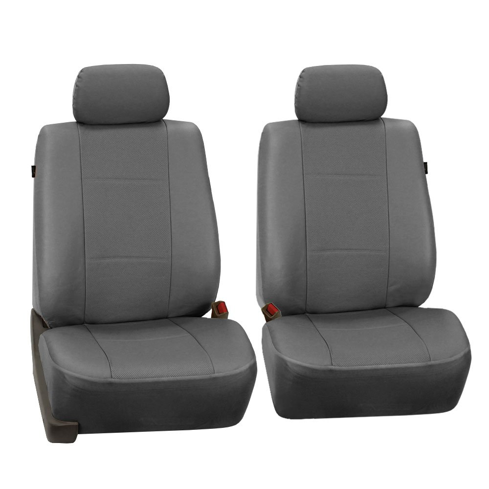 Amazon.com: FH Group PU007GRAY115 Universal Fit Full Set Deluxe Seat Cover  - Leatherette Airbag Compatible and Rear Split, Fit Most Car, Truck, SUV,  ...