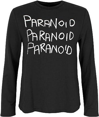 Banned Top o Camiseta de Manga Larga Gótica EMO Paranoid - Negro L: Amazon.es: Ropa y accesorios