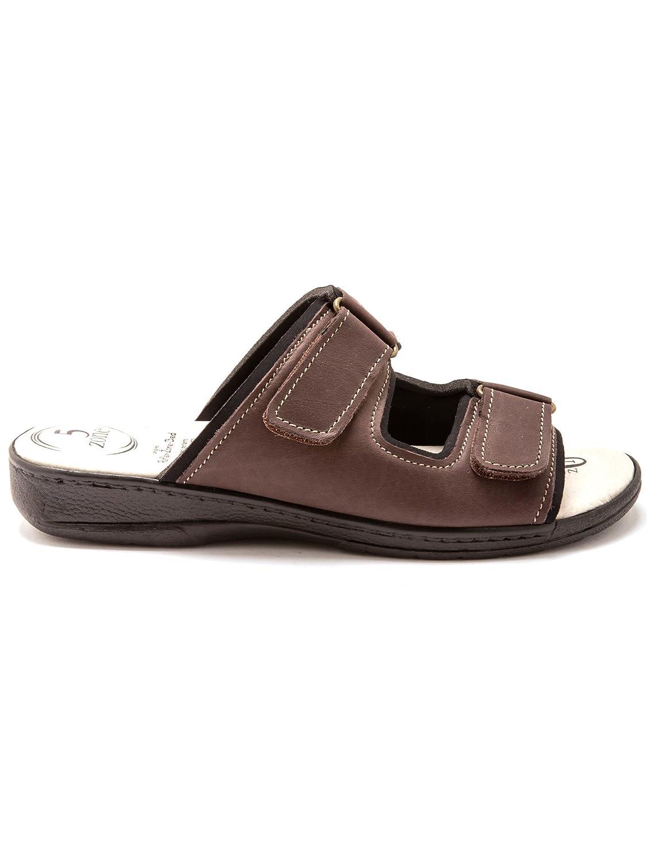 617750bf5151d7 Pediconfort - Mules à Semelle massante 5 Points - Homme - Taille : 41 -  Couleur : Marron: Amazon.fr: Chaussures et Sacs