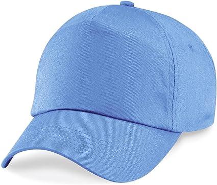 Beechfield Original 5 - Gorra azul celeste Talla única: Amazon.es ...