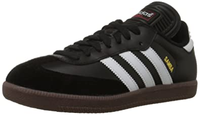 7818ddeb6 adidas Men's Samba Classic Soccer Shoe,Black/Running White,6.5 ...
