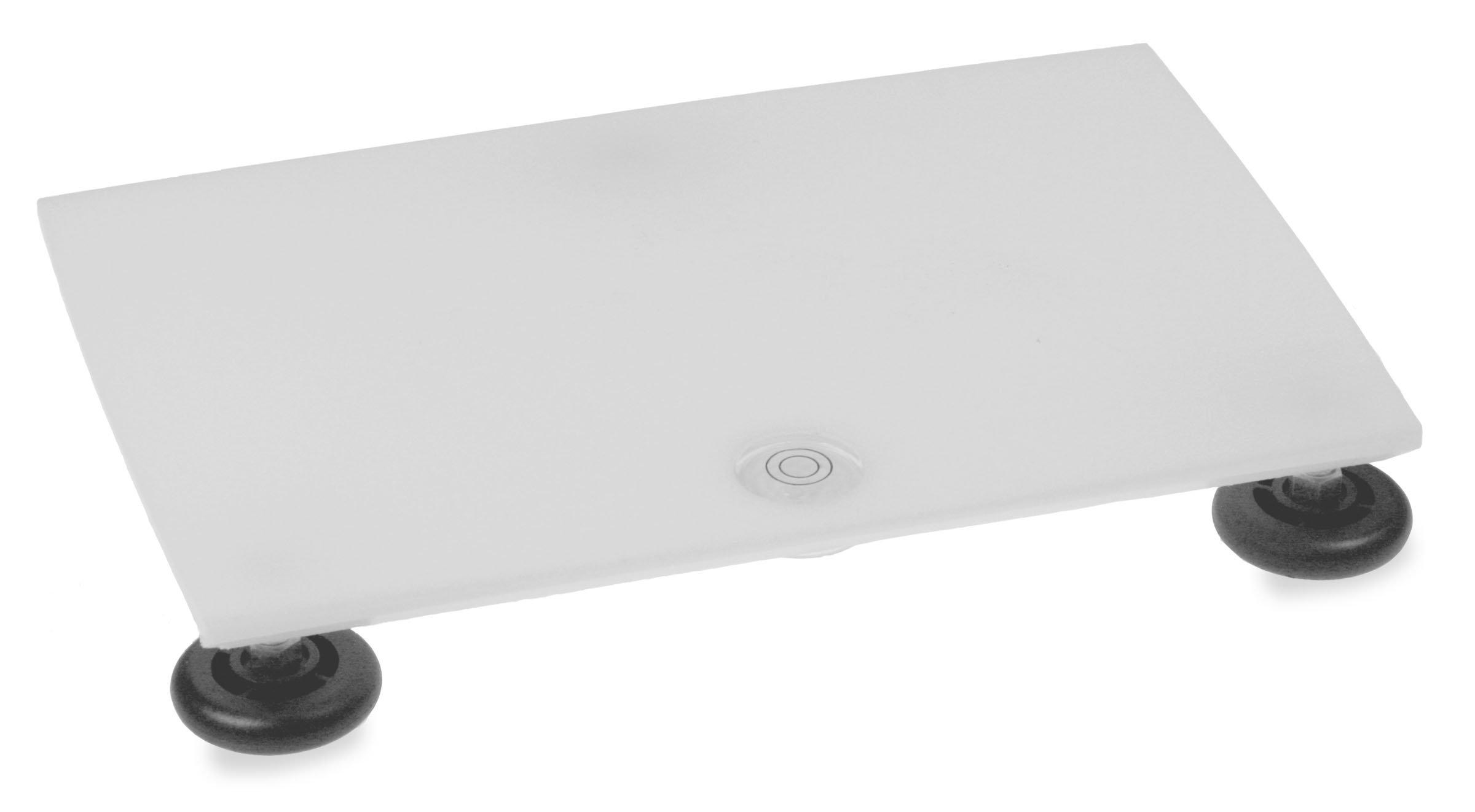 TrippNT 50603 Polyethylene Leveling Table, 12'' Width x 1'' Height x 8'' Depth, White