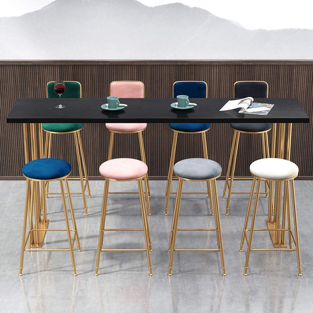 Sgabelli da Bar con Schienale e Poggiapiedi per Cucina Pub Bar Imbottite Sedie da Pranzo sgabelli Alti Moderne Sedile in Velluto e Gambe in Metallo Grigio