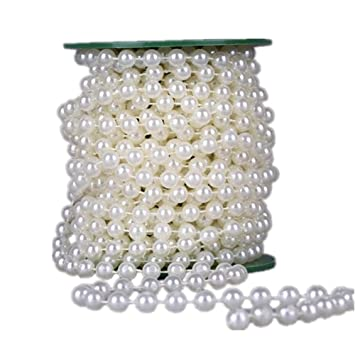 33feet10meter length roll beige pearl string party garland wedding 33feet10meter length roll beige pearl string party garland wedding centerpieces junglespirit Image collections